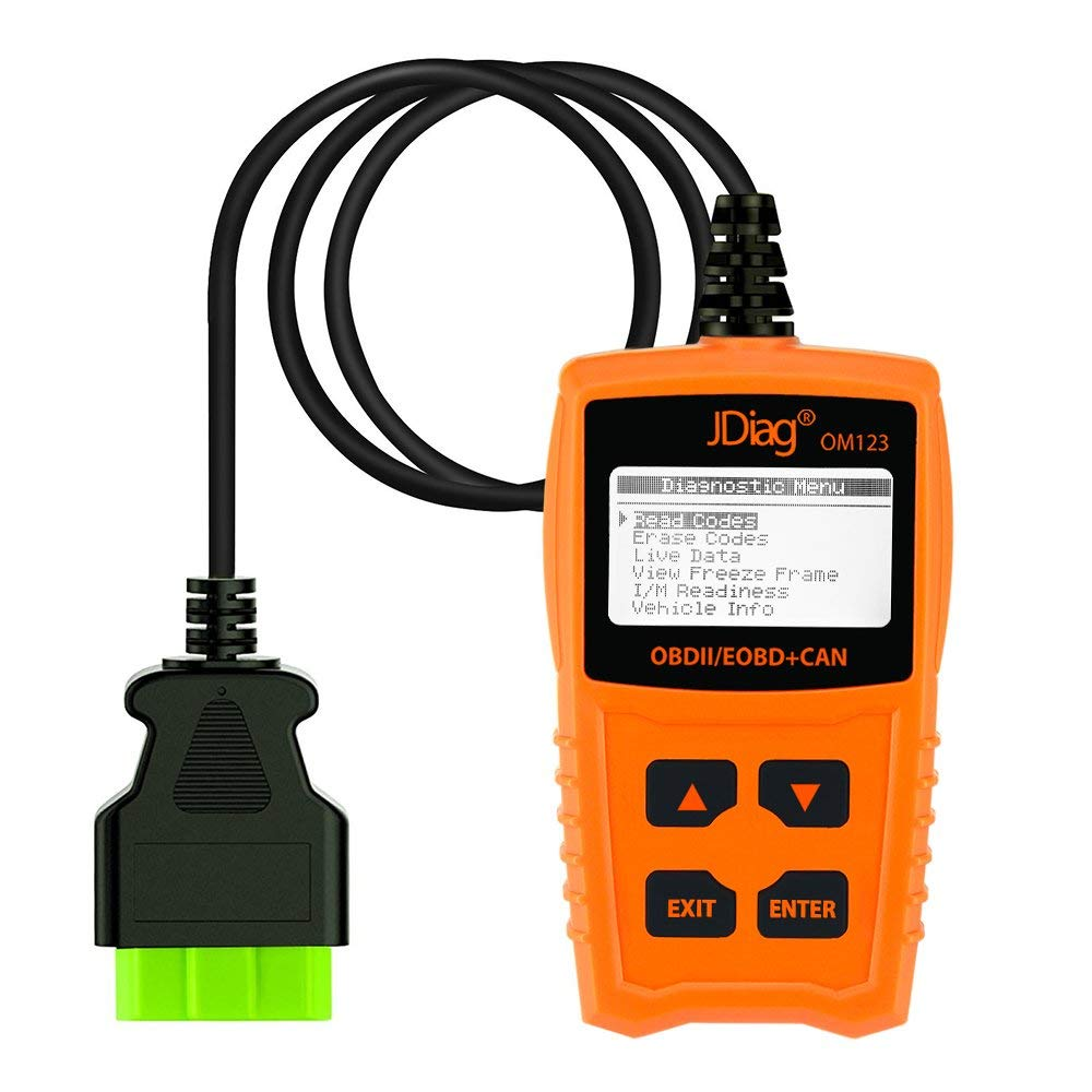 Get Quotations · JDiag OM123 Professional Car Vehicle Diagnostic OBDII Code Reader  Scanner Scan Tool Check Engine Light Read