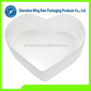 Clear customized heart shaped plastic storage blister box