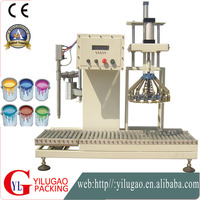 Semi-automation Net Weight Filling Capping Machine For Paint