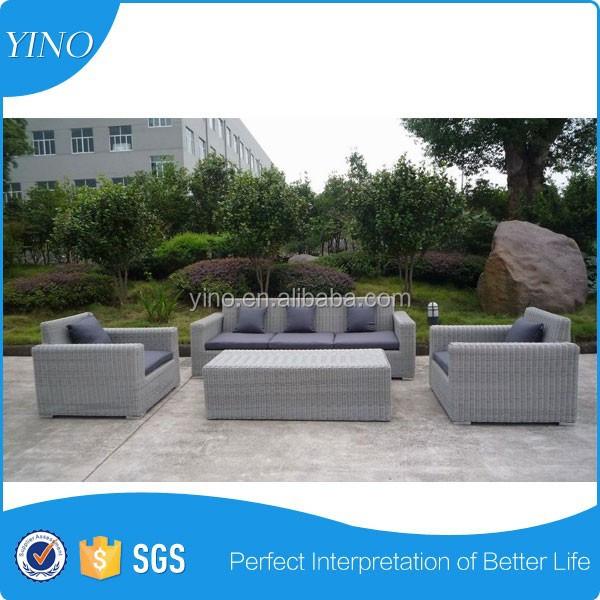Nieuwe outdoor patio rieten meubelen sofa sets 4 stuks lounge chaise rz1515 salontafel rotan - Sofa smeedijzeren ...