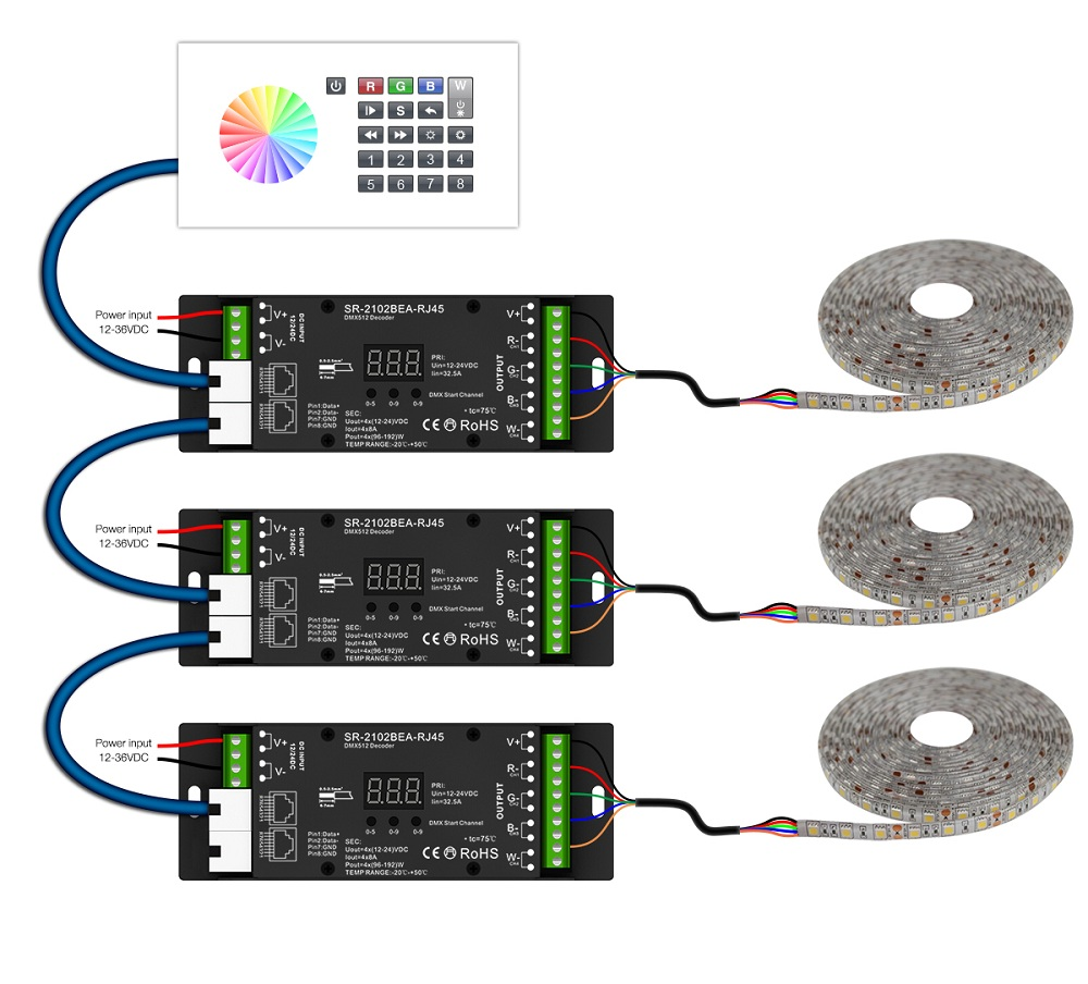 wiring diagram as well dmx led controller led dimmer