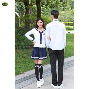 e3e9eae38f Uniforme novo da escola do coreano do projeto para o uniforme Uniforme da  escola das meninas