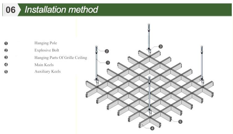 Environmental Aluminum Open Grid Suspended Ceiling Tile
