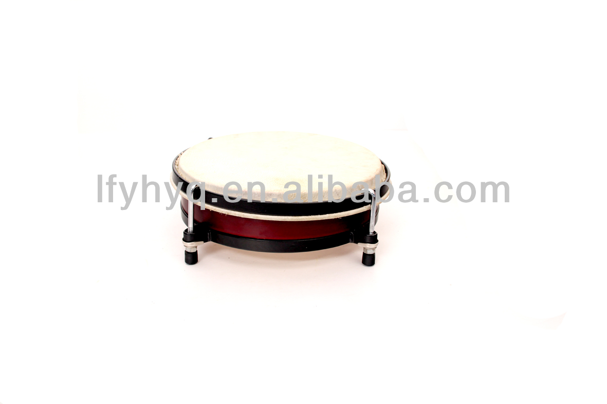 percussion instruments metal frame Drum with hook legs with tunable key in bag