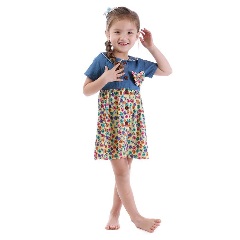 1012a6fa8a18a 2018 sevgililer Günü Fantezi Çocuk Kız Elbise Butik Çocuk Giyim Toptan Fiyat