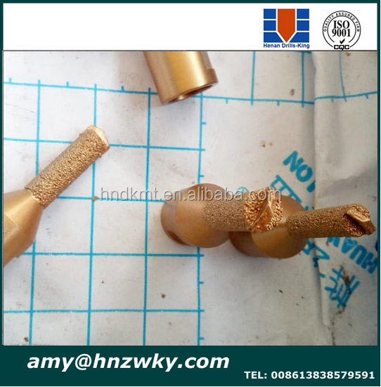 finger drill bit for dirlling concrete and brick with TCT top