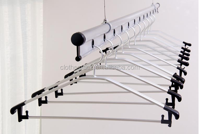 Aiyi Balcony Metal Display Clothes Dryer Rack Wall Mounted