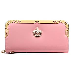 Women Long Wallet - SODIAL(R)2016 Fashion PU Women Wallet Multifunctional Zipper Long Wallet Vintage Ladies Clutch Thin Cheap Coin Purse Card Holder£¨Pink£