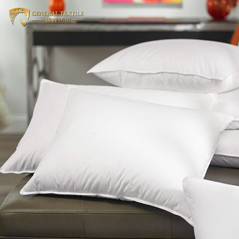 China Factory Cheap Custom Hotel Polyester Hollow siliconized Bed Pillow