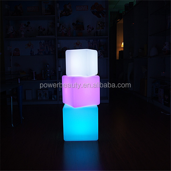 Led Light Cube Coffee Table/ Light Up Glow Cube Side Table/ Cube Led Table