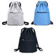 2018 Promotion fashion waterproof canvas zipper drawstring backpack