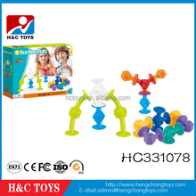 Intelligence silicone rubber building blocks educational DIY puzzle bricks game toys HC331078