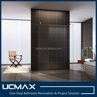 popular frameless one pcs glass shower screen