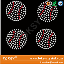 Small baseball, baseketball, football and volleyball motifs rhinestone iron on transfer wholesale price