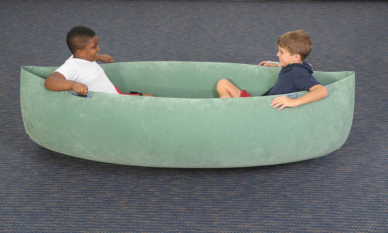 """Abilitations 1512741 Inflatable Pea Pod, Kindergarten to 5, 4 to 12 Years, 21.5"""" Height, 37"""" Wide, 80"""" Length, Vinyl, X-Large, Green"""
