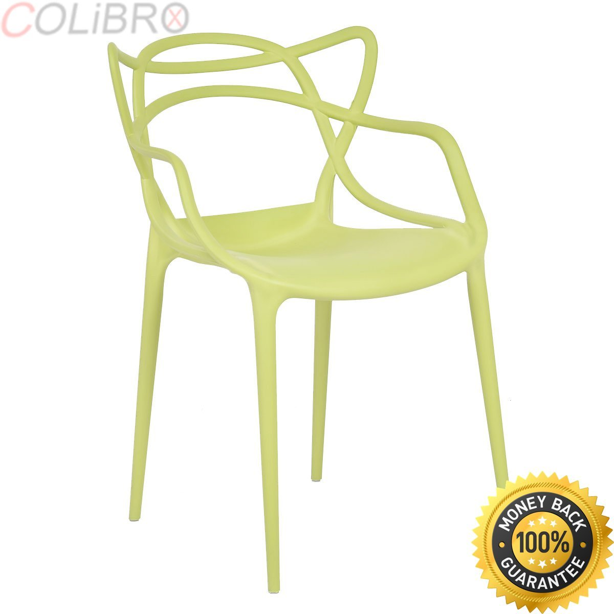 c22fc8fe09ec Get Quotations · COLIBROX--Set of 4 Masters Dining Chairs Modern Design  Armchair Indoor Outdoor Stackable.
