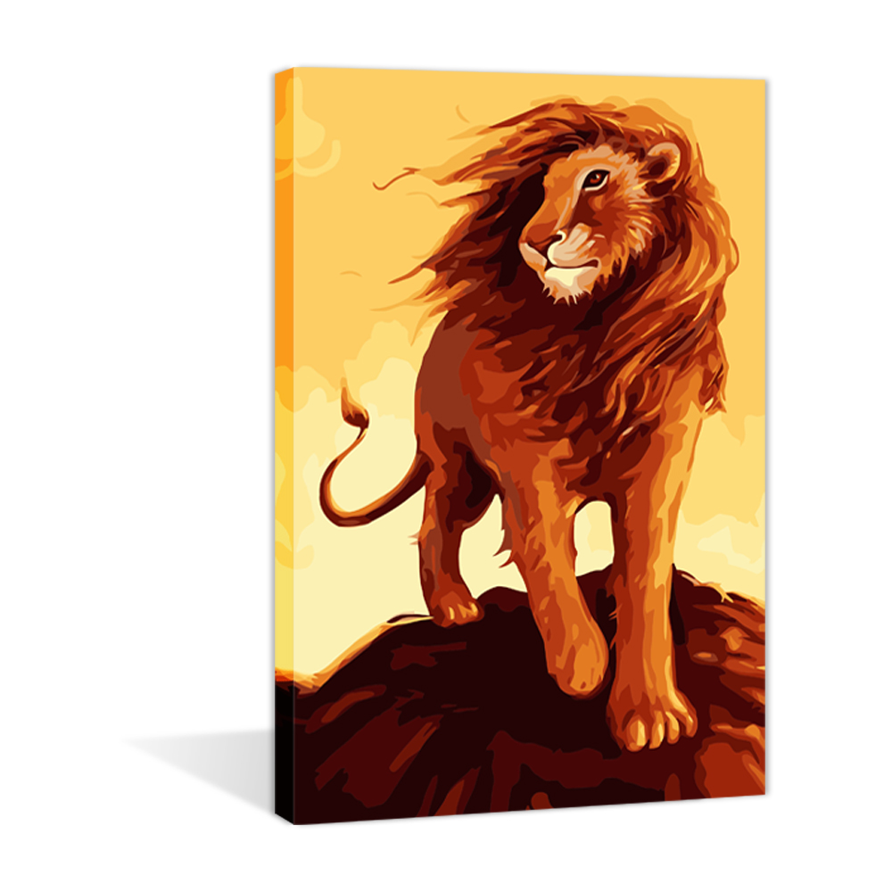 The Lion King Diy Paint By Number Stretched The Gift Handmade Oil Painting on canvas