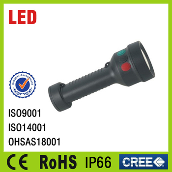 CE RoHS Rechargeable LED Signal Flashlight Torch IP65