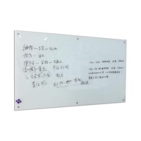 Non-glare Frameless Tempered Glass Magnetic Glass Dry Erase White Board