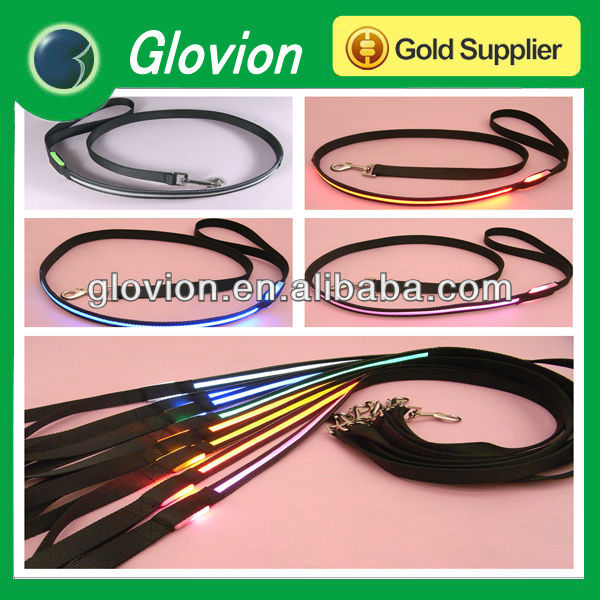 New item traction string set dog leash flashlight pet leash tracking led leash glow in the dark