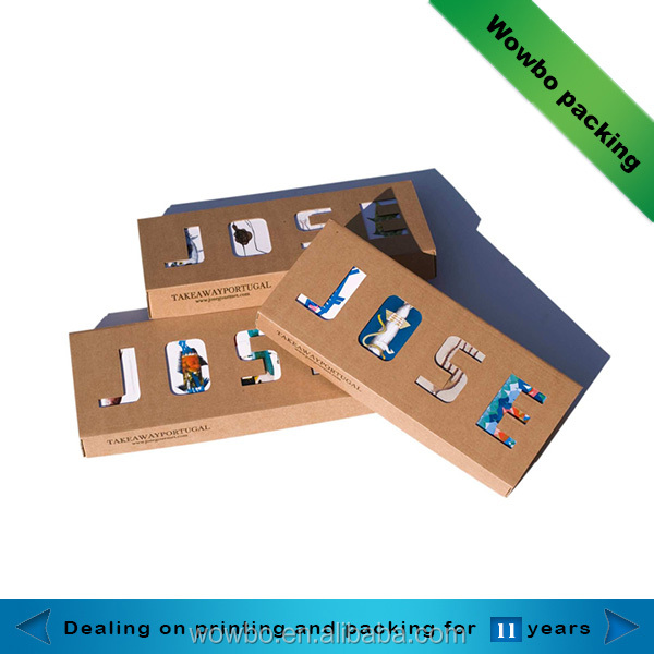 creative laminated paper gift box sock packaging with clear window