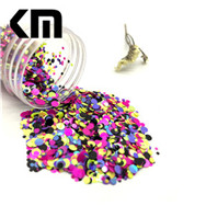 Special Shape Sequin Holographic Silver Rainbow Uni corn Shape Glitter for Nail Craft Decoration