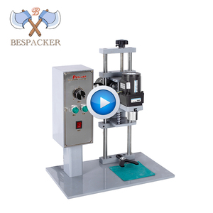 Bespacker DDX-450 USA semi automatic small plastic screw water bottle glass jar capping machine