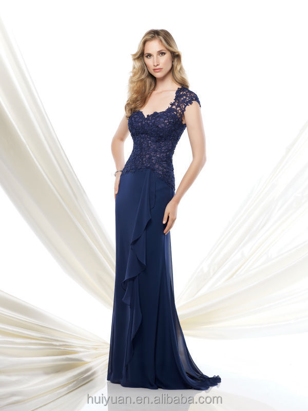 Deep V Neck Crystal Beaded Western Party Wear Dresses- View ...