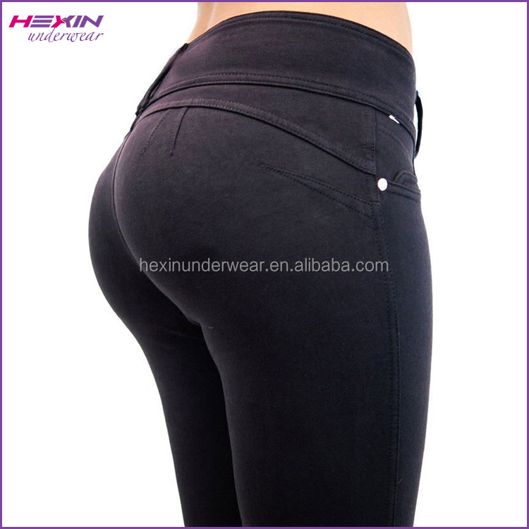 Black Color High Stretchy Women Fit Adults Age Group Butt Lifting Jeans