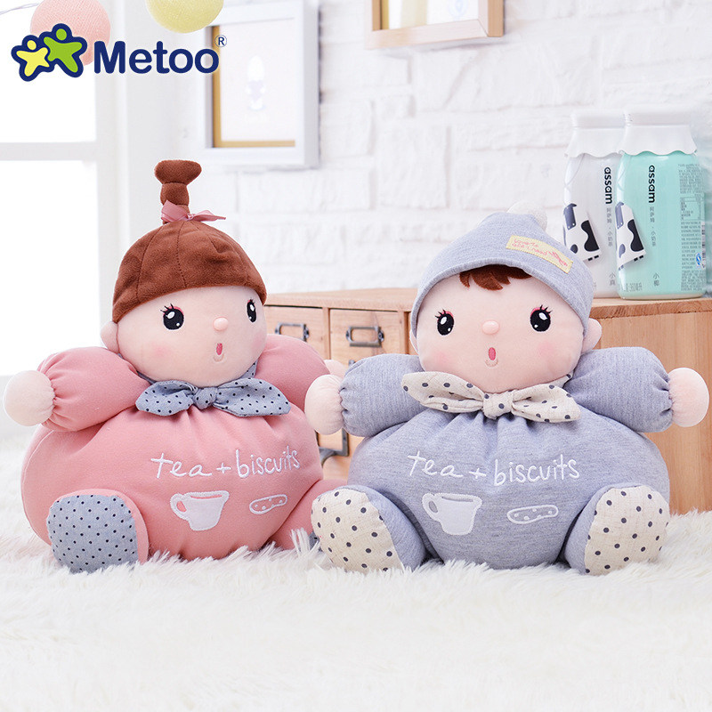 Plush Sweet Cute Lovely Kawaii Stuffed Baby Kids Toys for Girls Birthday Christmas Gift 26cm Appease Baby Toys Metoo <strong>Doll</strong>