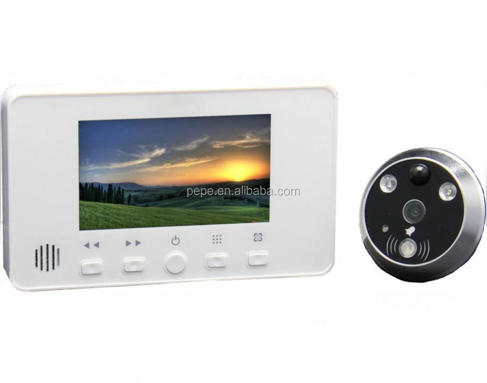 Dvr peephole smart door viewer wireless peephole camera for Door viewer camera