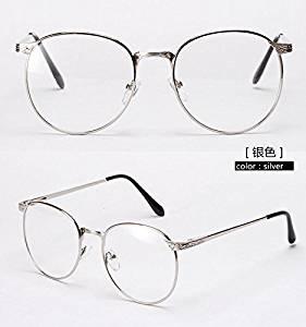 533a91dc41 Cloudings(TM)Oversized Round Metal Frame Eyeglasses With Clear Lens Vintage  Big Eye Glasses