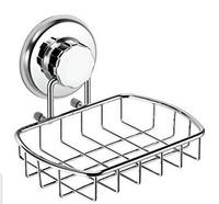Super Powerful Vacuum Suction Soap Dish - Strong Stainless Steel Sponge Holder for Bathroom & Kitchen (Chrome)