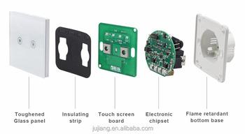 Nuovo design casa intelligente tocco interruttore elettrico