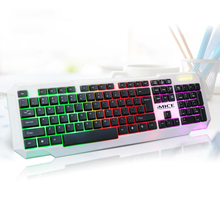USB Wired Retroilluminato LED Galleggiante Gaming Keyboard per PC, Laptop, Computer