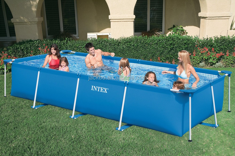 Hot Sale Above Ground Steel Frame Bestway Swimming PoolRectangular Pool