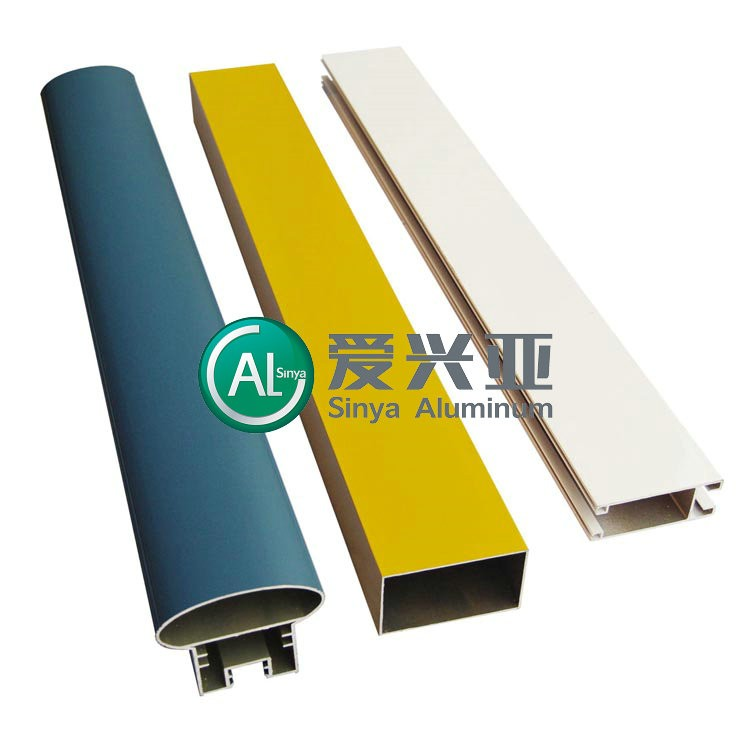 White anodized 6063 t5 aluminum of industrial profile for construction SG037