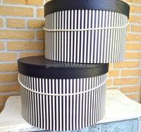 French style wedding decor Vintage round Hat Box