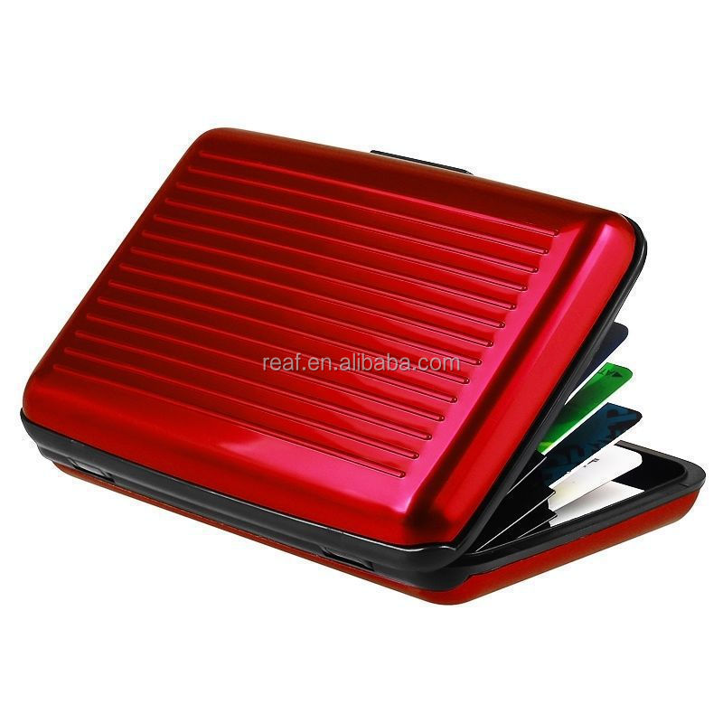 Promotional item aluminum&ABS material RFID Blocking magic <strong>wallet</strong> As Seen on TV