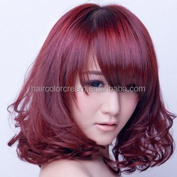 Diferentes colores de tinte para cabello
