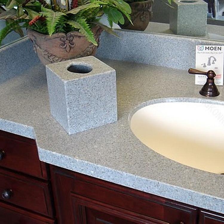 Cultured Marble L Shape Bathroom Vanity Tops,Prefab