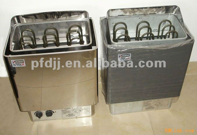 Tradicional sauna de vapor seco de acero inoxidable estufa - Calentador de sauna ...