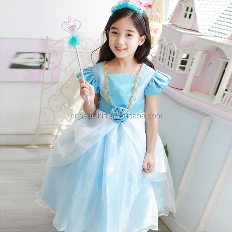 db4e50cce7f7f wholesale children's boutique clothing Frozen Elsa Dress for Girls Cosplay  Costume Movie Frozen Elsa Costume Kids