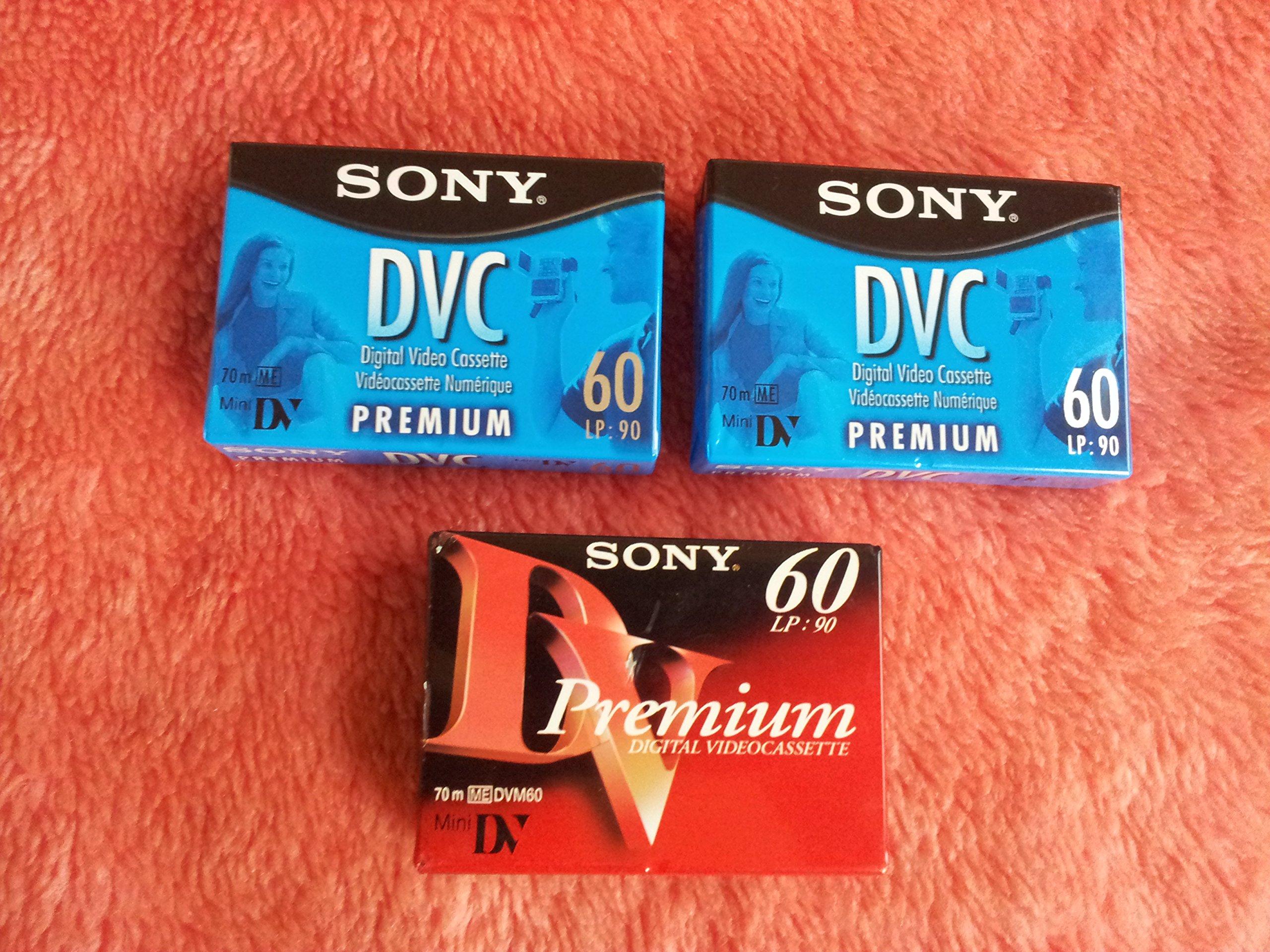 3 Packs Sony Mini Dv 60 Min Digital Video Cassette