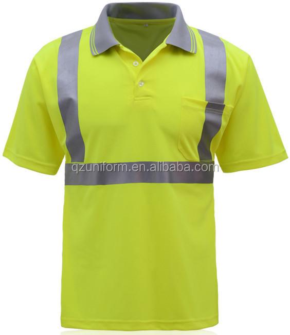 lime green high visibility reflective safety construction