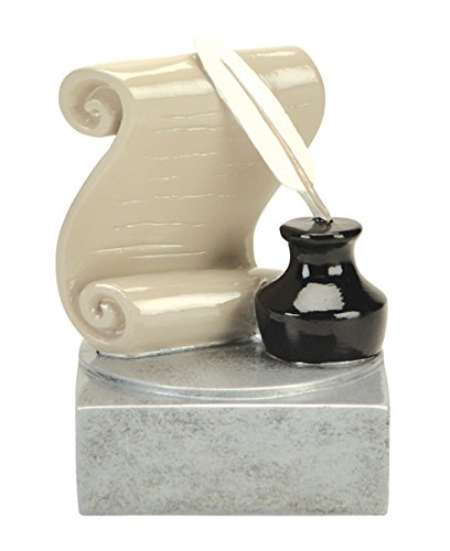 Literature Color Tek Trophy - Color Writer / Writing Award - Silver Base - Personalized & Engraved plate included - Decade Awards
