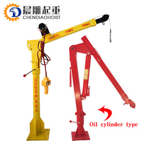DC12V/24V/220V/380V 500kg 800kg 1000kg Small Lift Truck Crane Cheap Price Mini Pickup Hydraulic Truck Crane for Sales