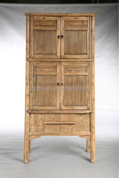 Asian bamboo wood cabinet