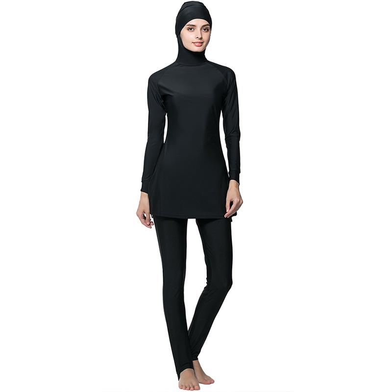 31defd9ccf935 Full Coverage Modest Muslim Swimwear Islamic Swimsuit for Women Beach Wear  Muslim hijab Swimsuits bathing suit