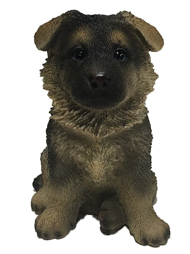 Hi-Line Gift Ltd Sitting German Shepherd Puppy Statue